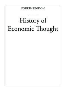 History of Economic Thought - Modern Economics