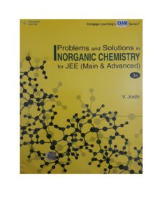 Part 2 Chapter 5 to 12 Problems and Solutions in Inorganic Chemistry for IIT JEE main and Advanced by V Joshi Cengage