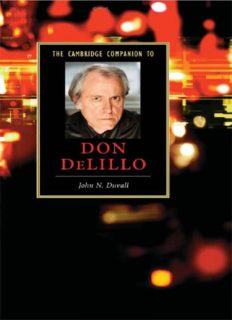 The Cambridge Companion to Don DeLillo (Cambridge Companions to Literature)