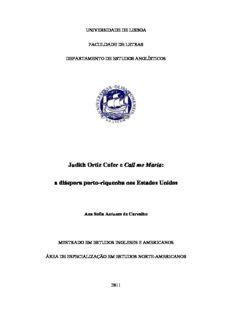 Judith Ortiz Cofer e Call me María