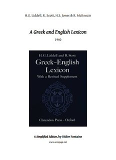 A Greek and English Lexicon A Greek and English Lexicon