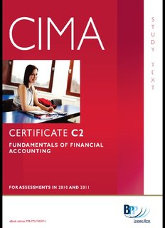 CIMA: Certificate Paper C2, FUNDAMENTALS OF FINANCIAL ACCOUNTING