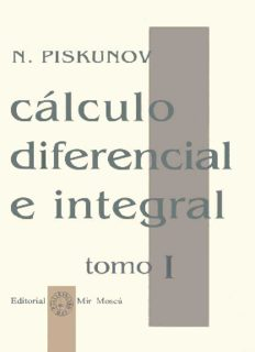 Calculo diferencial e integral tomo1 – N. Piskunov