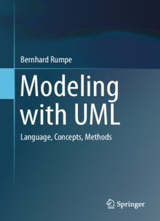 Modeling with UML: Language, Concepts, Methods