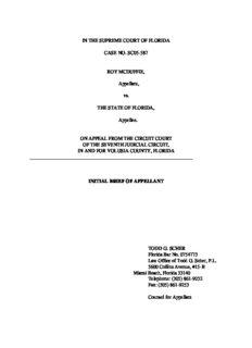 SC05-587 McDuffie v. State of Florida