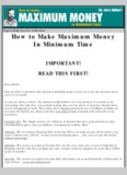 Gary Halbert Maximum Money in Minimum Time