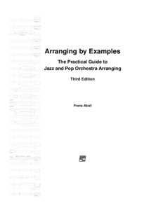 Arranging by Examples: The Practical Guide to - Frans Absil Music