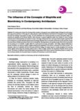 The Influence of the Concepts of Biophilia and Biomimicry in Contemporary Architecture