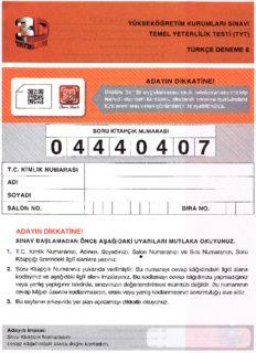 Çözüm 3D 10 TYT Türkçe Deneme 8