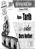 Benim Hocam Tarih Video Ders Notları PDf İNDİR