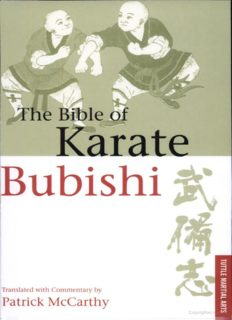 The Bible of Karate: Bubishi