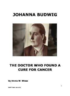 [PDF] Johanna Budwig: The Doctor Who Found a Cure for Cancer