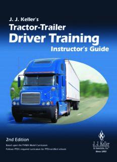 J.J. Kellers Tractor-Trailer Driver Training Instructors Guide