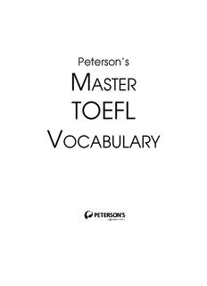 TOEFL-Master TOEFL Vocabulary.pdf - FreeExamPapers