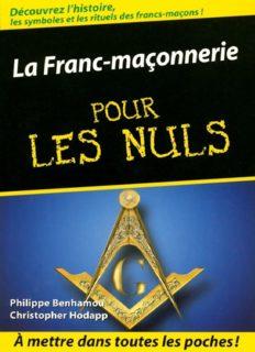 La Franc-maçonnerie Poche Pour les Nuls