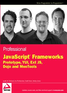 JavaScript Professional JavaScript Frameworks