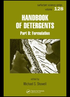 Handbook of Detergents: Formulation