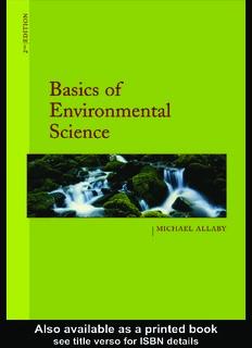 Basics of Environmental Science