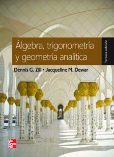 Algebra trigonometría y geometría analítica 3ra Edición de Dennis G. Zill