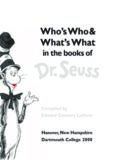 Who's Who and What's What in the Books of Dr. Seuss