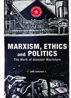Marxism, Ethics and Politics: The Work of Alasdair MacIntyre (Marx, Engels, and Marxisms)