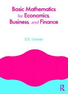 Basic Mathematics for Economics, Business and Finance
