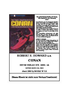 Howard, Robert E & L. Sprague De Camp & Lin Carter - Conan 1