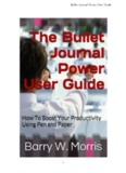 Bullet Journal Power User Guide