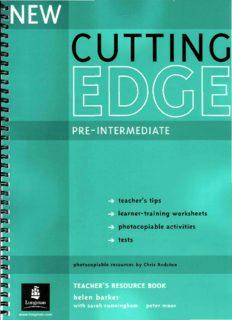New Cutting Edge. Pre-Intermediate. Teacher's book