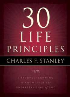 30 Life Principles Study Guide