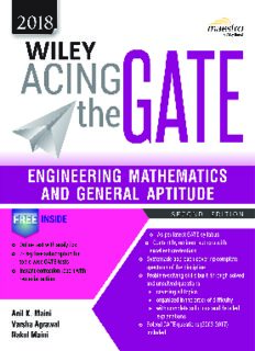 Wiley Acing the GATE - ENGINEERING MATHEMATICS AND GENERAL APTITUDE