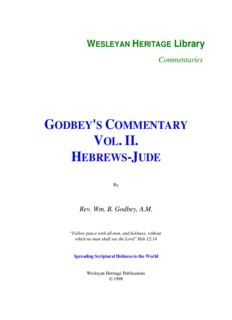 Godbey's Commentary - Hebrews - Jude - Enter His Rest