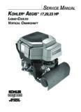 SERVICE MANUAL KOHLER AEGIS 17,20,23 HP - Kohler Engines: Home