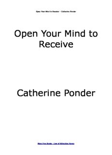 Open Your Mind to Receive Catherine Ponder