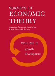 Surveys of Economic Theory: Growth and Development