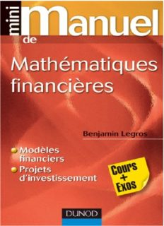 Mini Manuel de Mathématiques financières - Dunod
