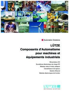 Composants d'Automatisme pour machines et équipements industriels