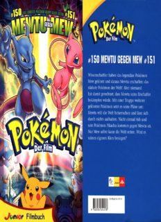 Pokemon. Der Film. Storybook. ( Ab 8 J.). 150 Mewtu gegen Mew 151