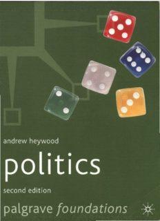 Andrew Heywood-Politics, Second Edition – Palgrave Foundations S.
