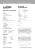 Grammar and Beyond Workbook 3 Answer Key