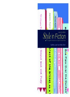 Style in Fiction: A Linguistic Introduction to English Fictional Prose