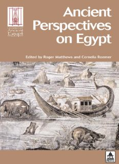 Ancient Perspectives on Egypt (Encounters with Ancient Egypt)