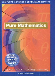 Complete Advanced Level Mathematics: Pure Mathematics