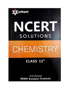 NCERT CBSE Chemistry standard  XI Solution Part 1 Class 11 by Purnima Sharma Arihant Questions and Answers