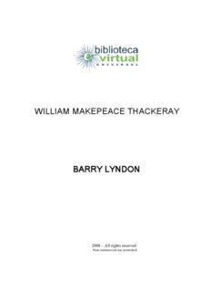 william makepeace thackeray barry lyndon - Biblioteca Virtual