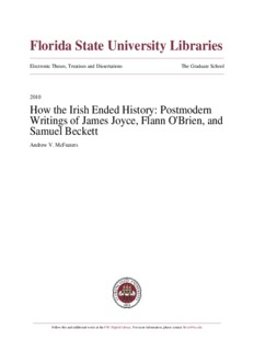 How the Irish Ended History: Postmodern Writings of James Joyce, Flann O'Brien, and Samuel ...