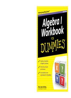 Algebra I Workbook for Dummies, 2nd Edition (For Dummies (Math & Science))