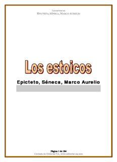 Epicteto, Séneca, Marco Aurelio