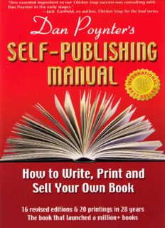 The Self-Publishing Manual : How to Write, Print, and Sell Your Own Book, 15th Ed. (Self Publishing Manual)