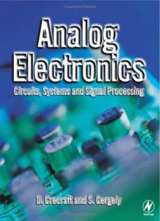 Analog Electronics: Circuits, Systems and Signal Processing